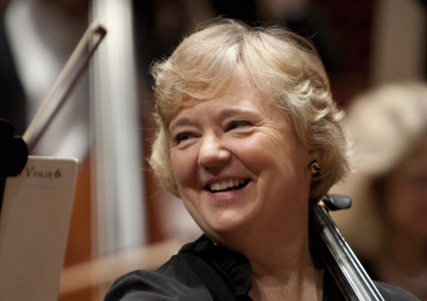 Cellist Margaret Tait of the San Francisco Symphony